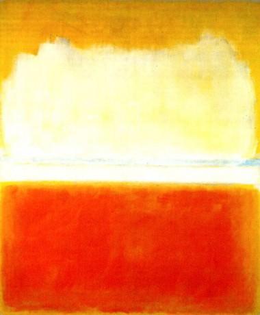 But lumineux sans forme très précise : Rothko
